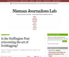 Is the Huffington Post reinventing the art of liveblogging? (Nieman)