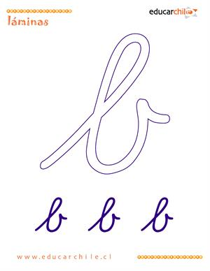 Caligrafía Letra b (Educarchile)