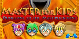 Master for Kids Dungeons of the Multiplications. Videojuego de rol de multiplicaciones en inglés