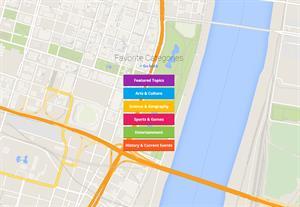 Smartypins with Google maps. Trivial geográfico de cultura, artes, ciencias,...