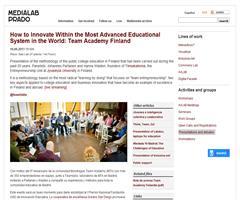 Cómo innovar dentro del sistema educativo más avanzado del mundo: Team Academy Finlandia | MediaLab