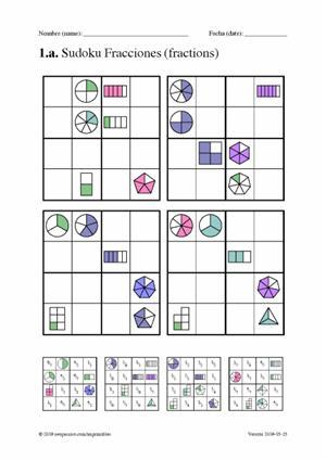 Sudoku de fracciones (neoparaiso.com)