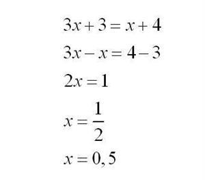 Ecuaciones de primer grado: teoría, ejercicios y problemas