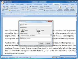 Creación de Macros en Microsoft Word