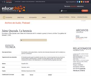 Jaime Quezada. La herencia (Educarchile)
