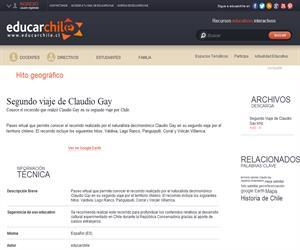 Segundo viaje de Claudio Gay (Educarchile)