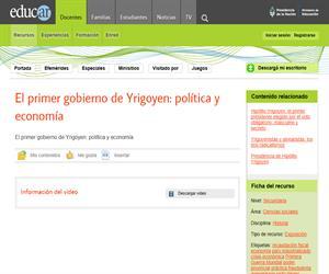El Primer gobierno de Yrigoyen: Política y economía