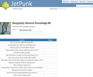 Geography General Knowledge 8