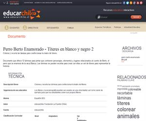 Perro Berto Enamorado - Títeres en blanco y negro 2 (Educarchile)