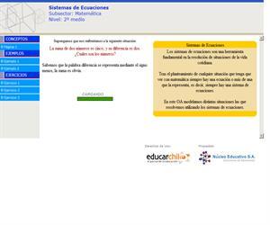 Sistemas de Ecuaciones (Educarchile)