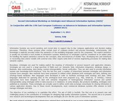 OAIS: Ontologies meet Advanced Information Systems (OAIS'2013)