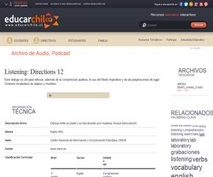 Listening: Directions 12 (Educarchile)