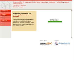 Dos modelos de organización del texto expositivo: problema / solución y causa/ consecuencia (Educarchile)