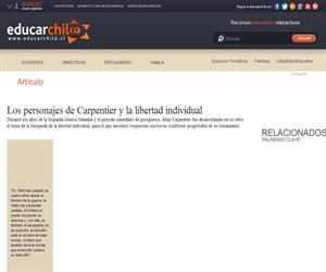 Los personajes de Carpentier y la libertad individual (Educarchile)
