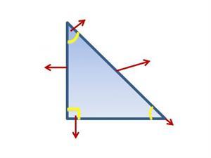 Triángulo rectángulo - Identificar partes