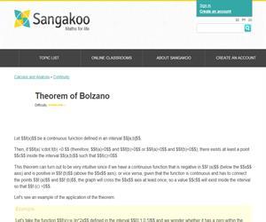 Theorem of Bolzano