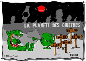 Le planete des chiffres: juego para practicar los números en francés