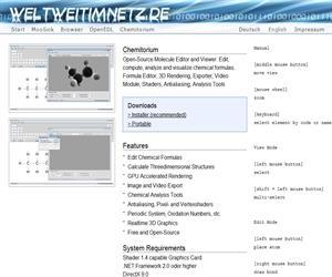 Chemitorium, un visualizador de moléculas en tres dimensiones