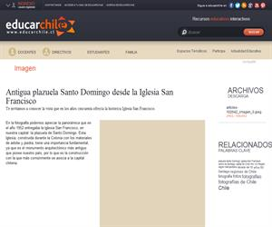 Antigua plazuela Santo Domingo desde la Iglesia San Francisco (Educarchile)
