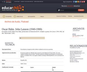 Oscar Hahn. John Lennon -1940-1980- (Educarchile)