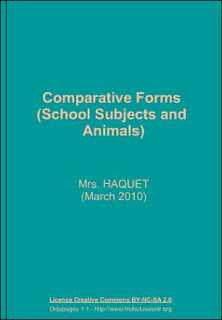 Comparative forms - School subjects and animals (chagall-col.spip.ac-rouen)