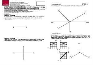 Examen de Selectividad: Dibujo técnico. Castilla-La Mancha. Convocatoria Junio 2014
