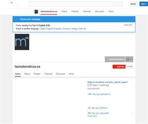 Vídeos de Matemáticas en el Canal de Juan Medina Molina (YouTube)