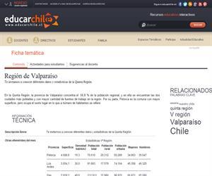 5ta Región Estadísticas (Educarchile)