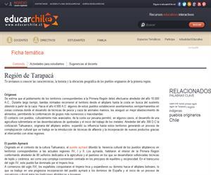 1era Región Pueblos Originarios (Educarchile)