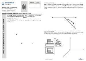 Examen de Selectividad: Dibujo técnico. Aragón. Convocatoria Junio 2014