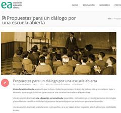 Propuestas para un diálogo por una escuela abierta (Asociación Educación Abierta)