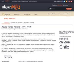 Acuña Mena, Justicia (1893-1980) (Educarchile)