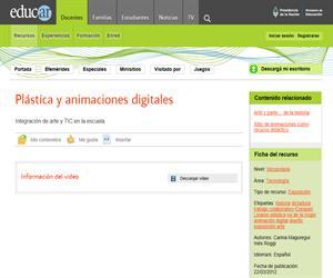 Plástica y animaciones digitales