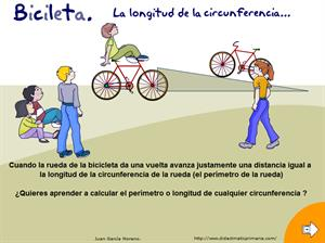 La Bicicleta: longitud de la circunferencia