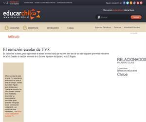 El remezón escolar de TV8 (Educarchile)