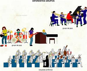 Diferentes grupos (Diccionario visual)