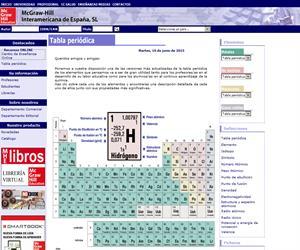 Tabla Periódica interactiva (McGraw-Hill)