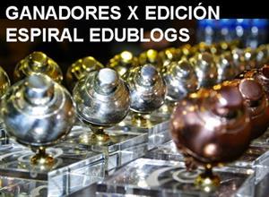 Ganadores de la X Edición del Premio Espiral Edublogs