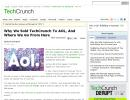"""Why We Sold TechCrunch To AOL, And Where We Go From Here"" (Michael Arrington)"