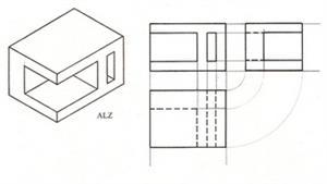 Las vistas de un objeto (dibujo técnico)