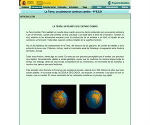 La Tierra, un planeta en continuo cambio (Proyecto Biosfera)
