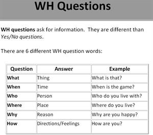 WH question words. Grammar and practice (learnenglish-online.com)