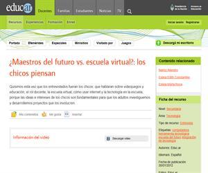 ¿Maestros del futuro vs. escuela virtual?: los chicos piensan