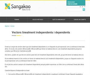 Vectors linealment independents i dependents