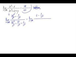 Límite de una sucesión (cociente polinomios)