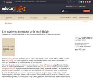 Los escritores internautas de la profe Helein (Educarchile)