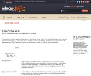 PsicoActiva.com (Educarchile)