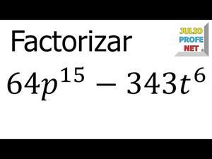 Factorización de una Diferencia de Cubos Perfectos (JulioProfe)