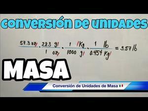 Conversión de Unidades de MASA (gramos, kilogramos, libras, onzas)