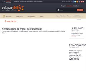 Nomenclatura de grupos polifuncionales (Educarchile)